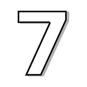 number seven clipart clipartfest seven pinterest rh pinterest com number 7 clipart black and white number 7 clipart pictures