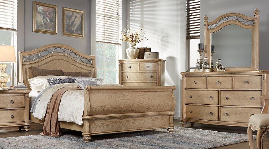 König Sleigh Schlafzimmer Sets #Wohnzimmermöbel #dekoideen
