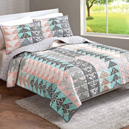 55657cfedc2cb22080f12737a8693e38 - Better Homes And Gardens Triangle Quilt