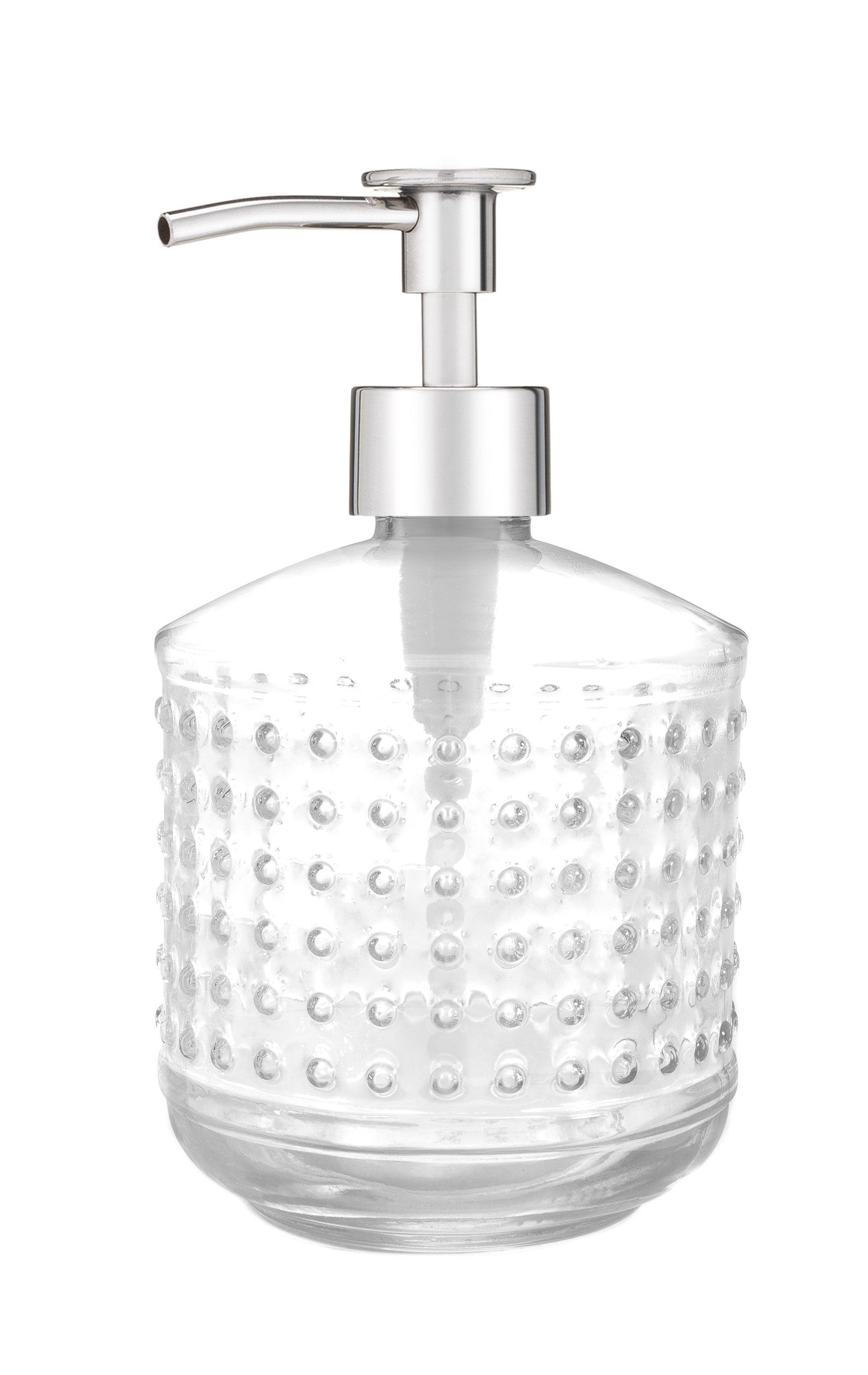 Hobnail Glass Soap Dispenser Rustic Copper Soap Dispenser