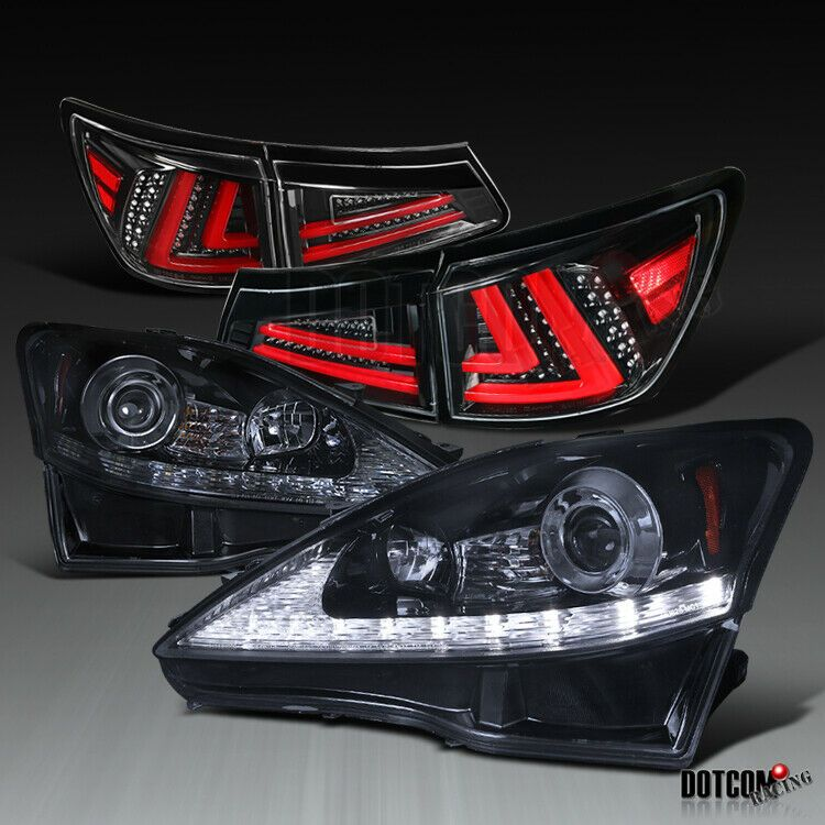PU Rear Body Bumper Lip Spoiler Compatible with 2006-2011 Lexus IS250 IS350