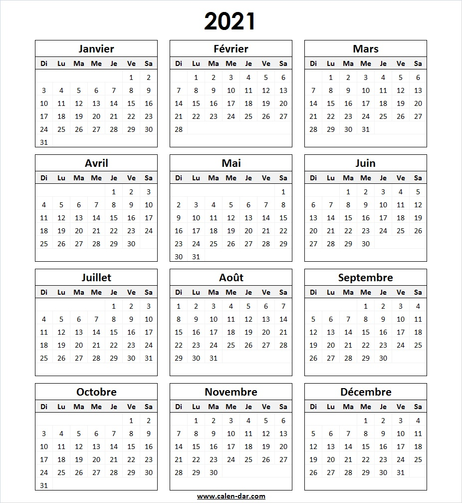 Calendrier Photos 2021 Modèle Calendrier 2021 à Imprimer in 2020 | Bullet journal layout