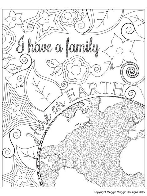 Maggie Muggins Designs Family Here On Earth Coloring Page k