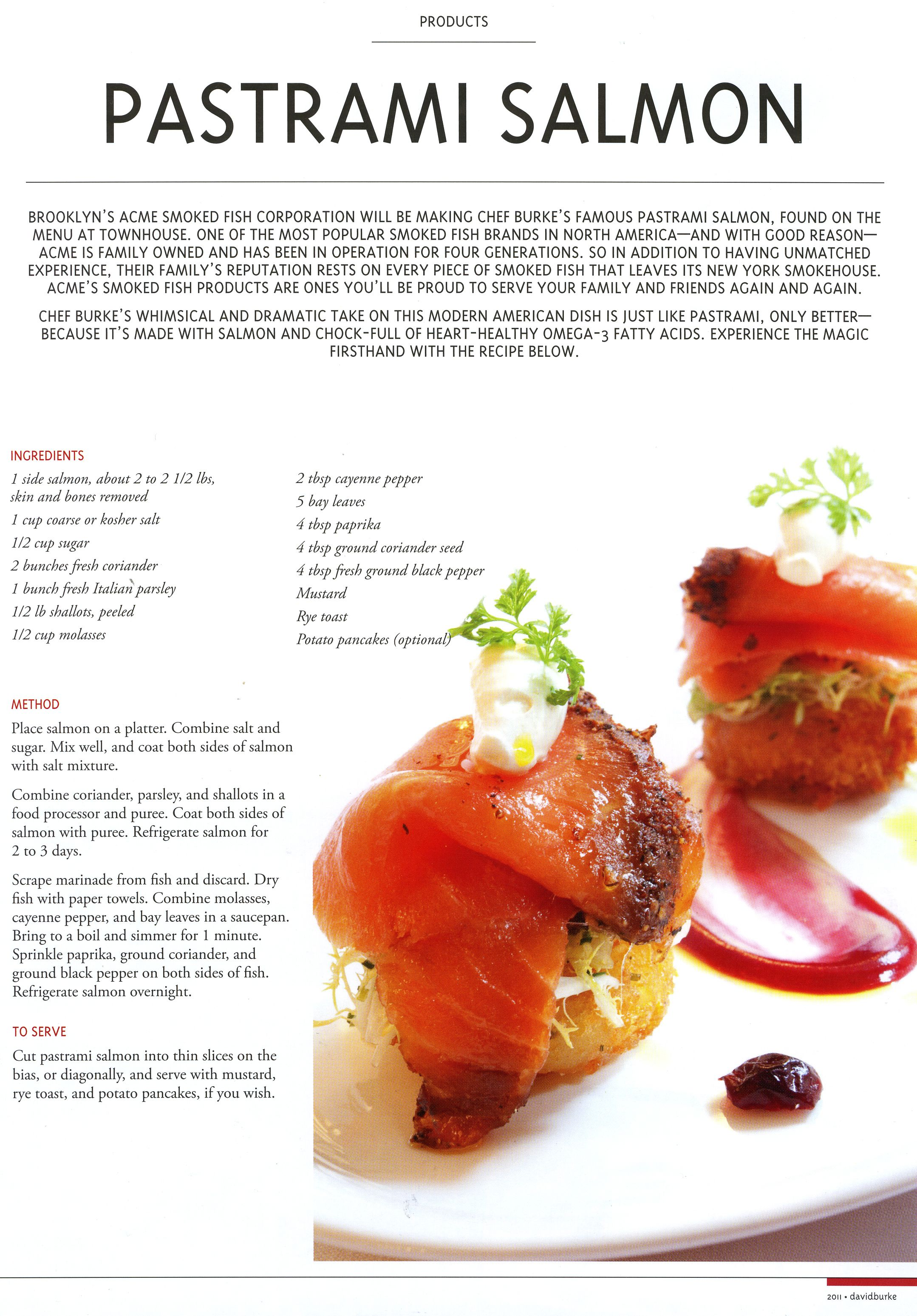 David Burke Pastrami Salmon! | Make Ahead Recipes | Pinterest