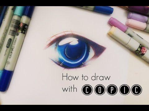 How To Draw Simple Manga Anime Eye With Copic Copic Marker Art Copic Markers Tutorial Anime Eyes