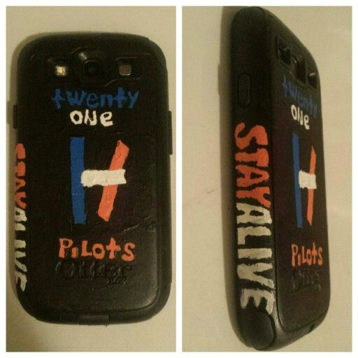 My phone case, I painted it myself :) Stay Alive |-/