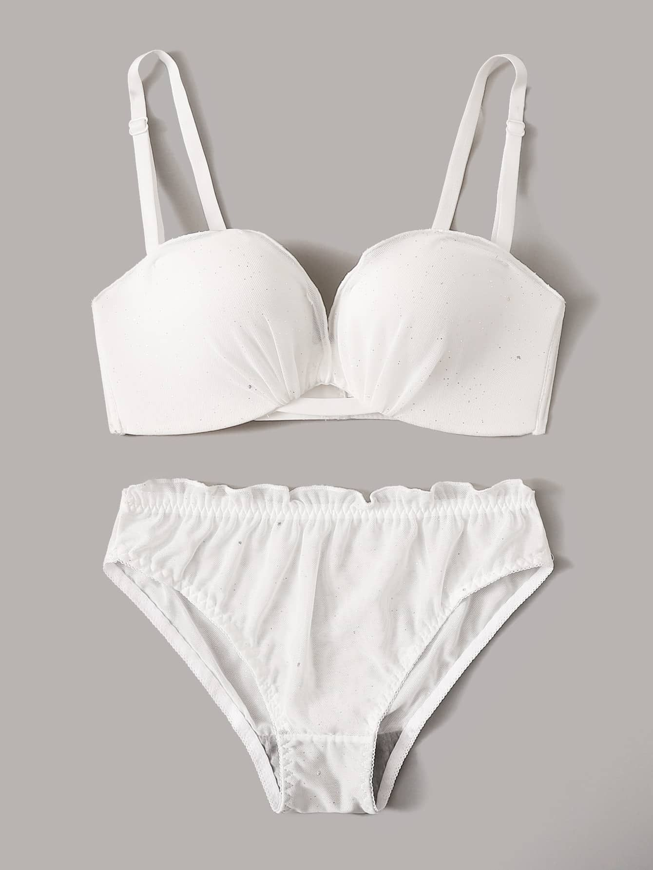 Details about  /Sexy Lingerie Wire Free Bra/'s For Ladies Polyester Spandex Solid Under-wears Bra