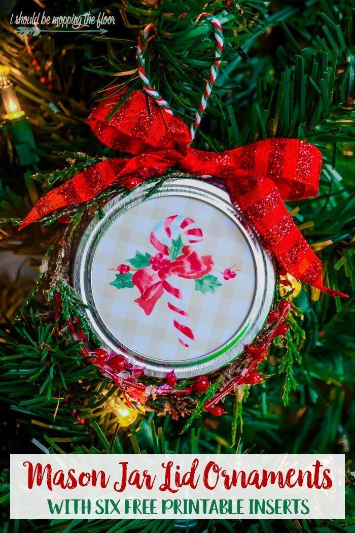 Mason Jar Lid Ornaments   Mason jar christmas crafts, Christmas mason jars, Jar lid crafts
