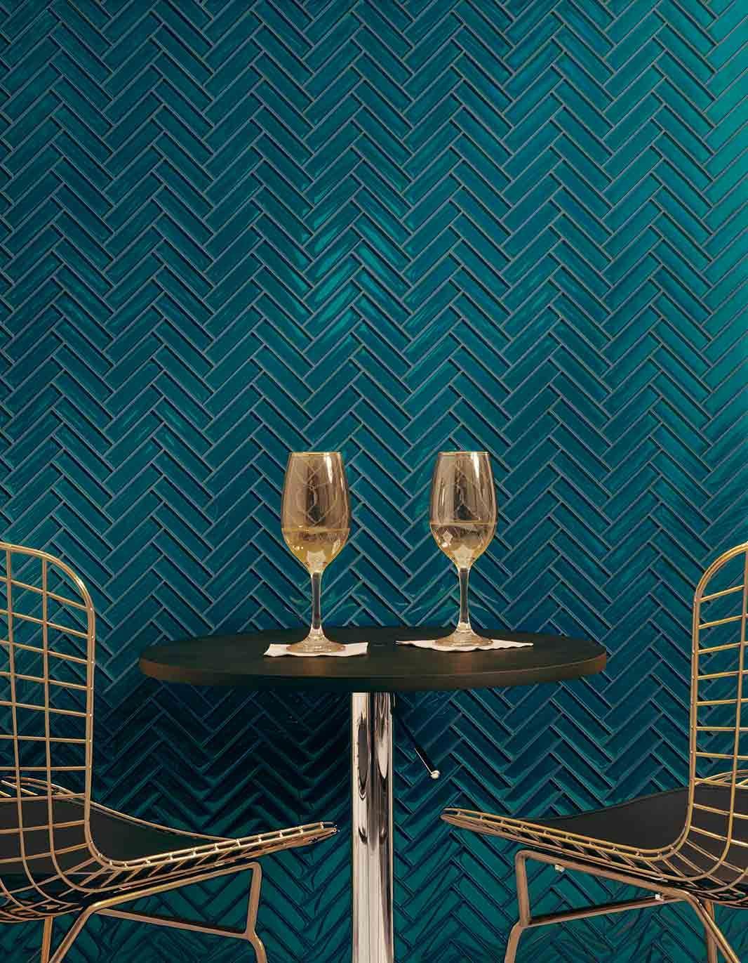 bold color tile designs teal tile