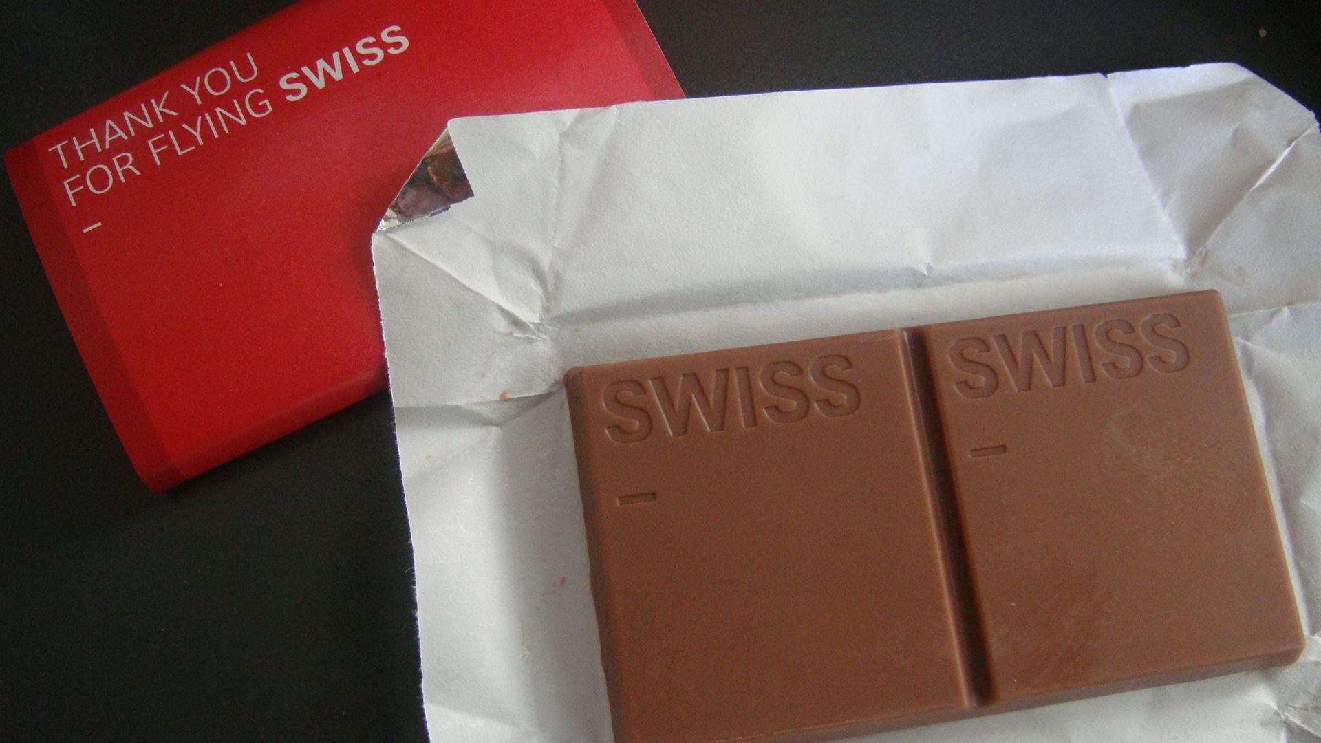 Swiss Air Chocolate Print ads, Kloten