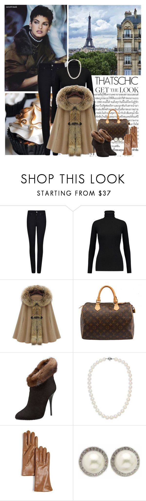 """Get the Look: Winter Style"" by dezaval ❤ liked on Polyvore featuring Dollhouse, Lonely Planet, Murphy, Armani Jeans, Autumn Cashmere, Louis Vuitton, Giuseppe Zanotti, Blue Nile, Bloomingdale's and Kabella Jewelry"