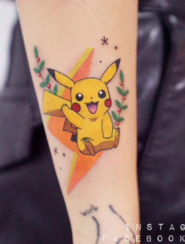 Pikachu Tattoo : pikachu, tattoo, Pikachu, Tattoo, InkStyleMag, Tattoo,, Pokemon, Japanese