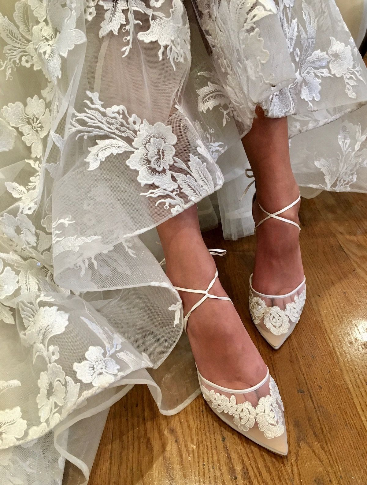 Lace Wedding Shoes, Kitten Heels#heels #kitten #lace #shoes #wedding
