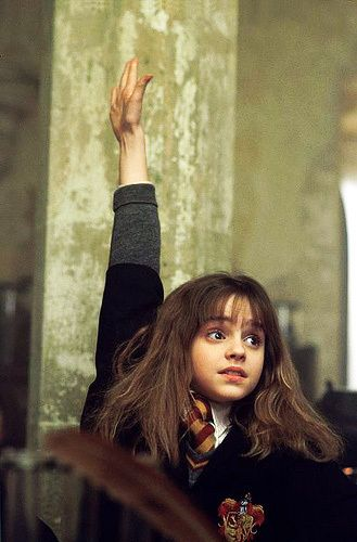 Emma Watson as Hermione Granger. Positive female role that teaches women to use their intelligence and be proud of it!