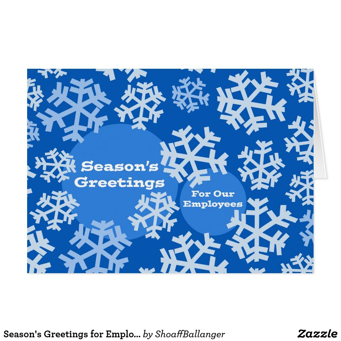 Seasons Greetings For Employee Business Snow Card Christmas