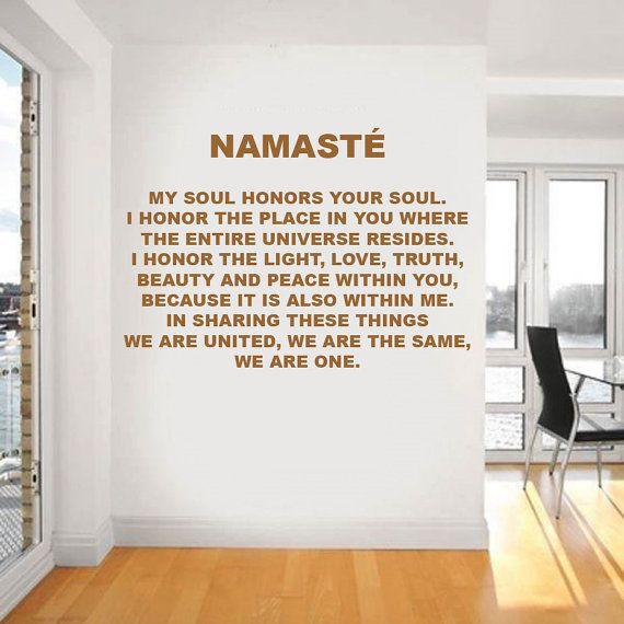 Absolutely original 3D cork letters NAMASTE, wall decor, motivation ...