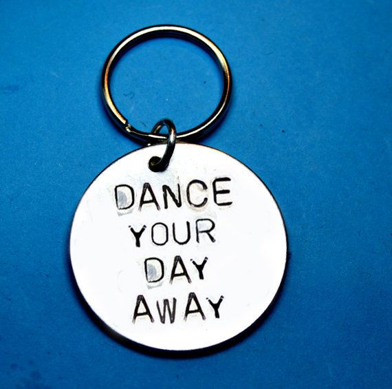Dance Gift Ideas Cool Gift Uk Hand Stamped Keyring Birthday