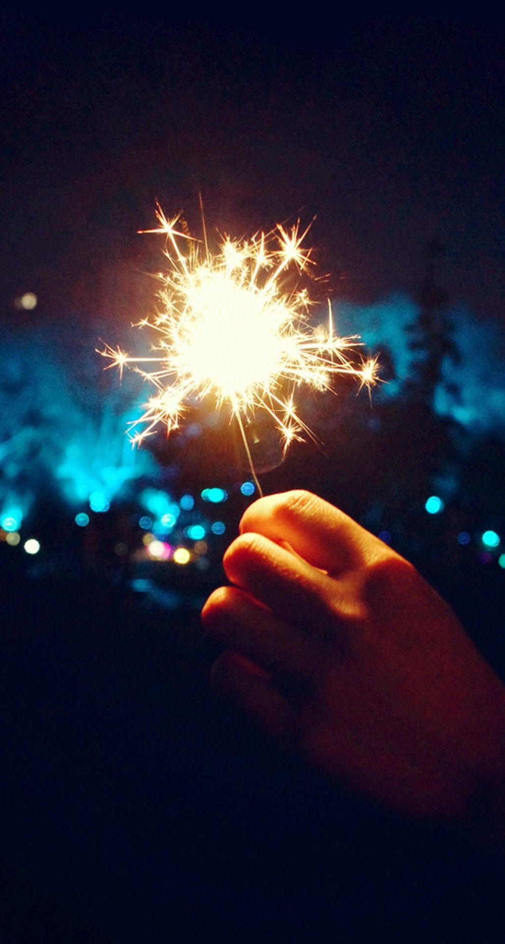 Happy New Year Fireworks Hand iPhone 6 Plus HD Wallpaper in 2019