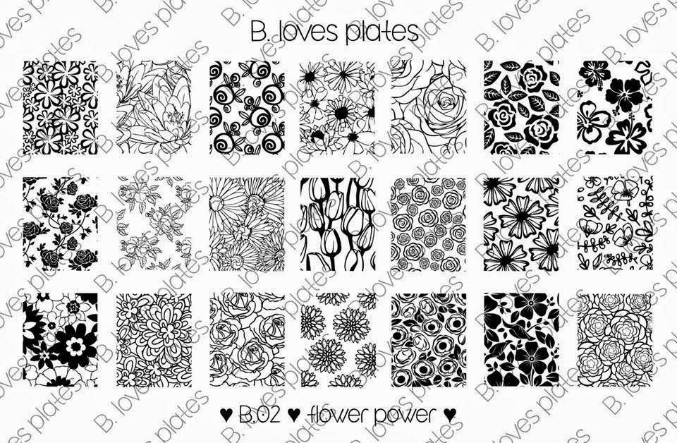 Hot Off The Stamping Press B Loves Plates Nail Art