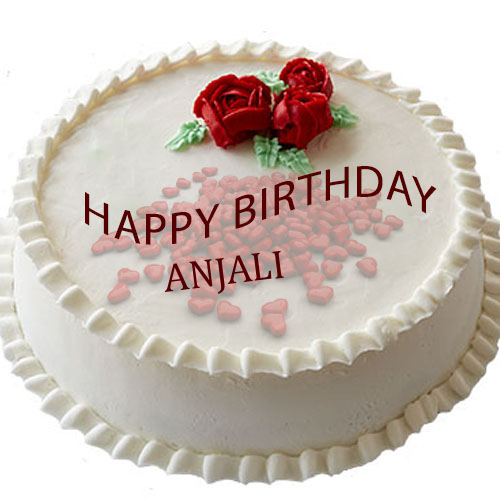 Successfully Write Your Name In Image Anjali Cake Name