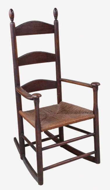 Lot 188 Shaker Rocking Chair Estimate 2 000 5 Realized 3 250