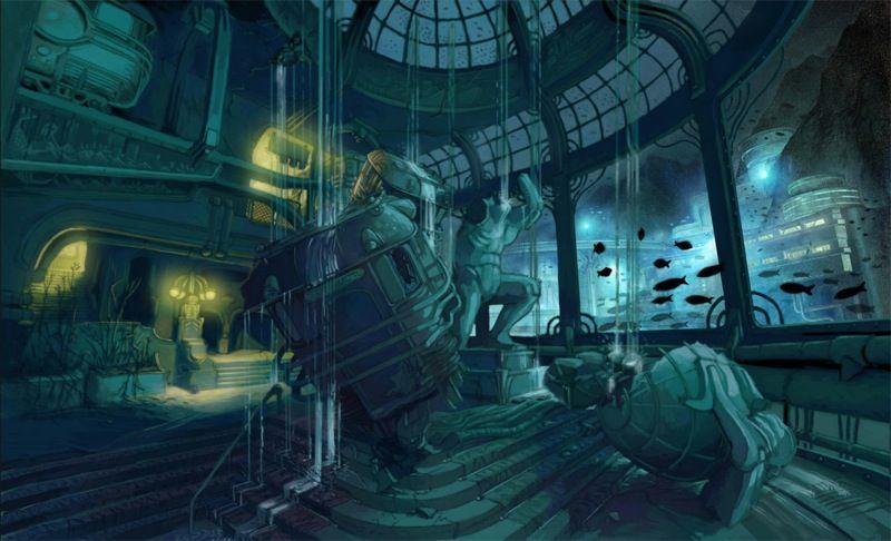 An Underwater City Gone Wrong Bioshock Art Bioshock Artwork Game Concept Art