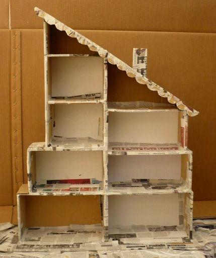 Una casita de mu ecas hecha con cajas de zapatos es - Manualidades con cajas de zapatos ...