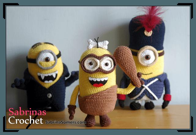 Crochet pattern Minion Caveman | Minions, Amigurumi und Ich einfach ...