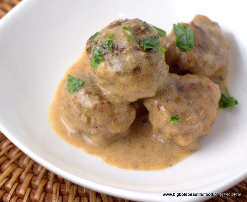 Big, Bold, Beautiful Food: Swedish Meatballs
