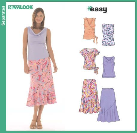 Sewing Pattern Summer Tops Blouses Skirts Easy New Look 6470 ...