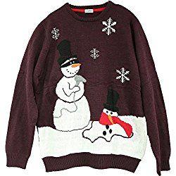 136d55ddac64 Shineflow Women s Unisex Happy Snowman Ugly Christmas Sweater Plus ...