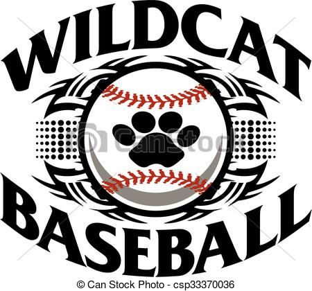 vector wildcat baseball stock illustration royalty
