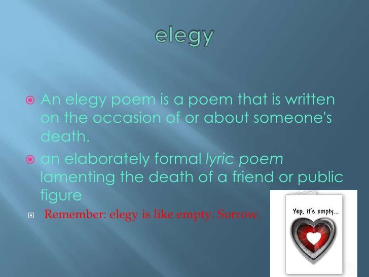 Writing Poetry Lyric Poem Elegy Poem