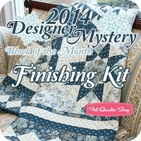 2014 Designer Mystery Block of the Month Finishing KitFat Quarter Shop Exclusive Block of the Month Program