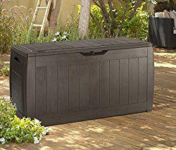 Balkonklapptisch weiss  Keter Sherwood Plastic Deck Storage Container Box Outdoor Patio ...