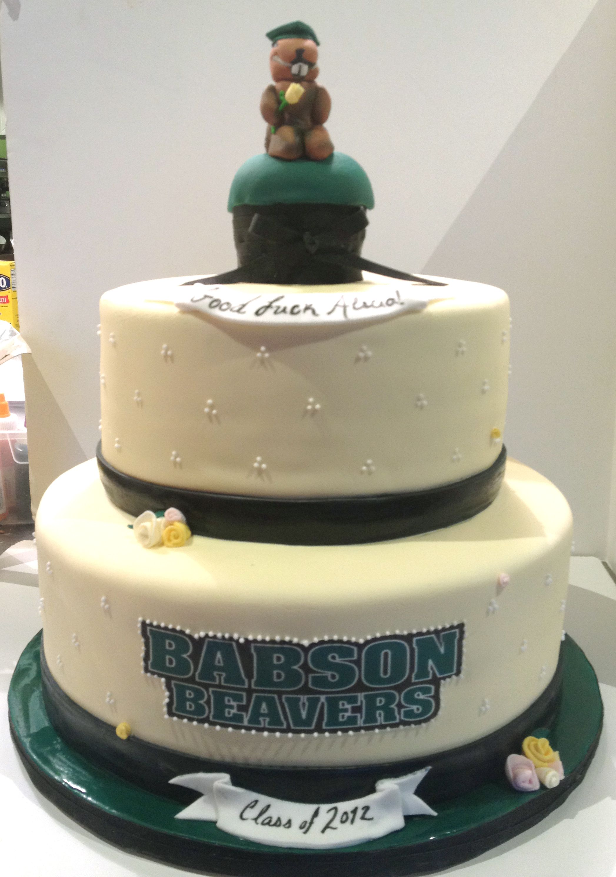 Babson College Grad cake by The Cake Bar | Food in 2019
