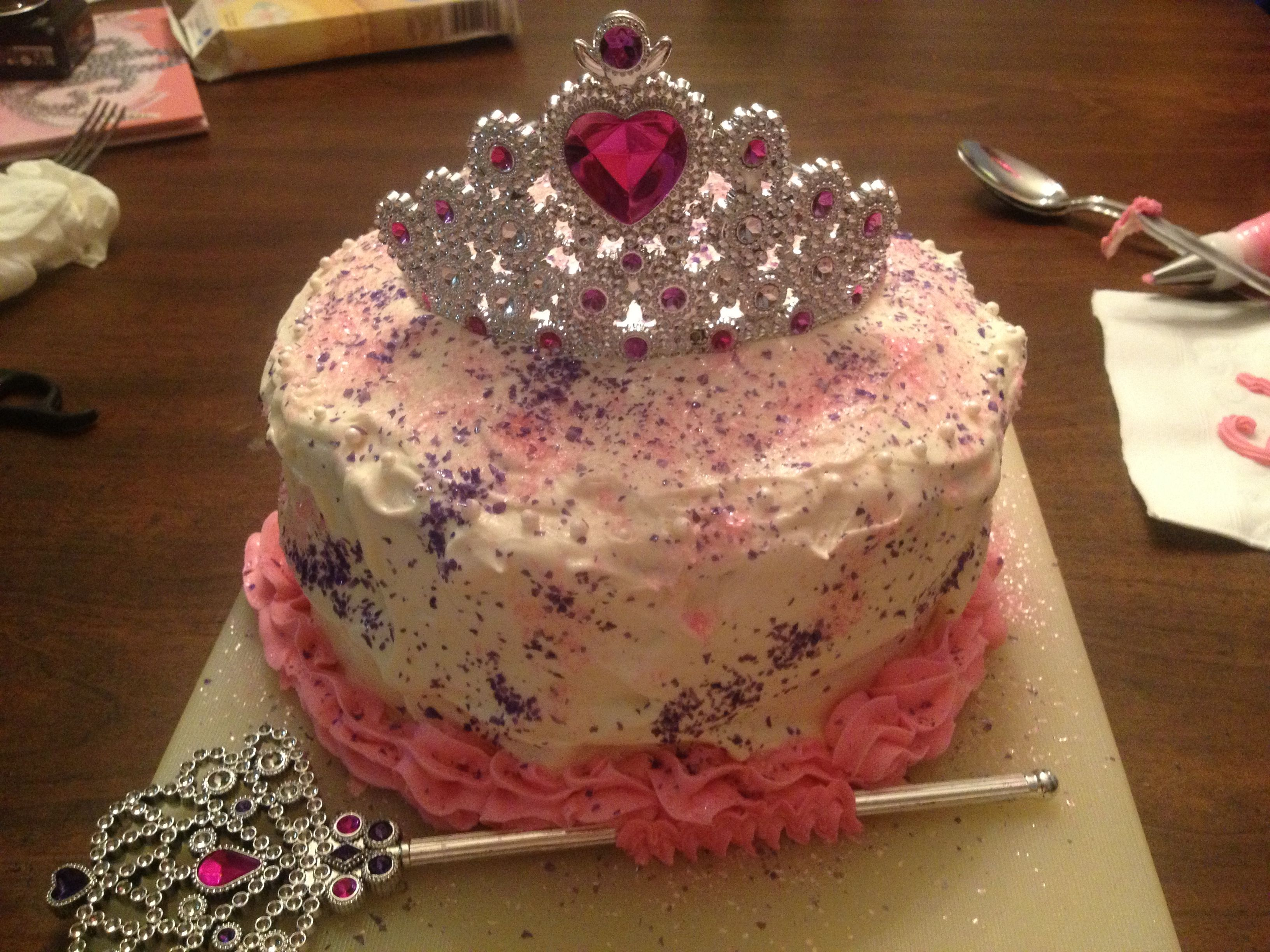 An easy princess birthday cake that received wonderful reviews