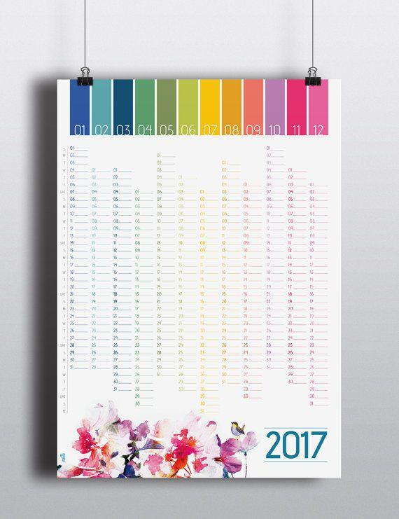 Calendar Wall Ideas : Wall planner calendar print by