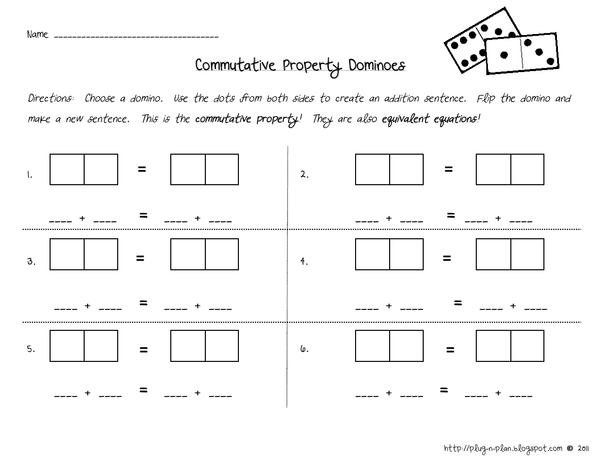 Commutative Property Dominoes