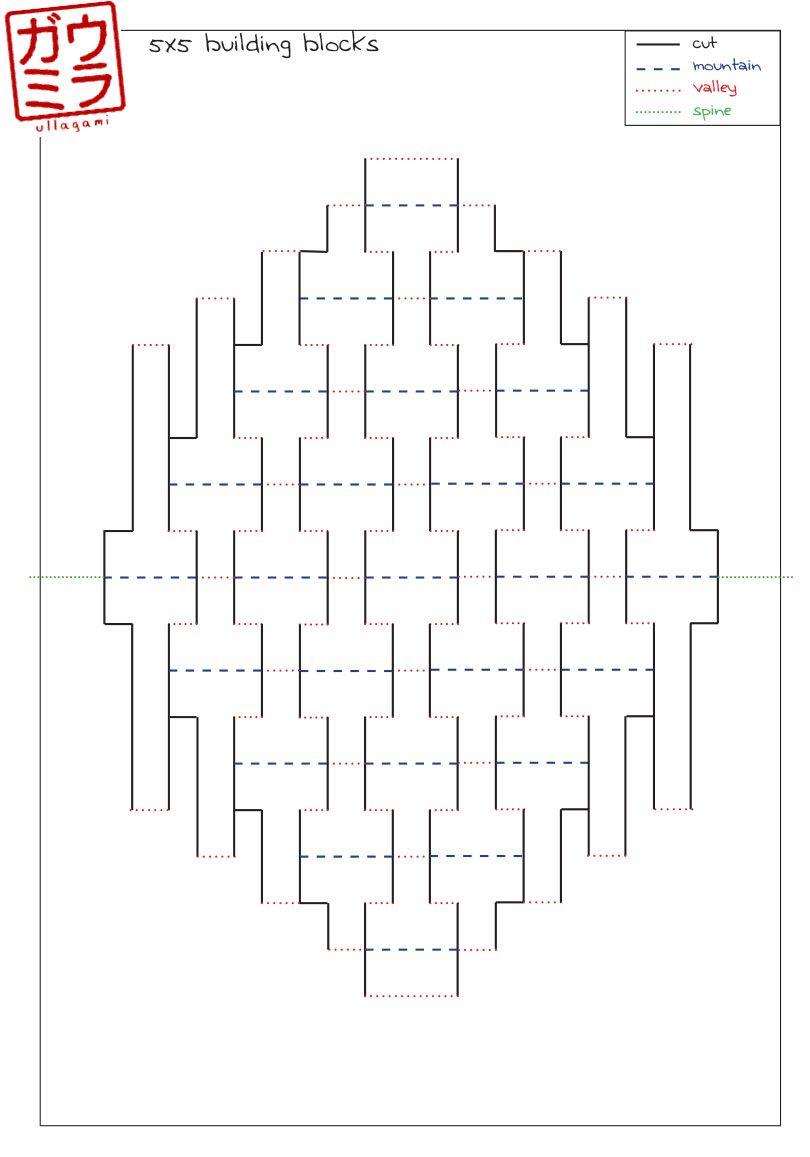 Ullagami How To Geometric Kirigami Pop Ups Kirigami Patterns Kirigami Kirigami Templates