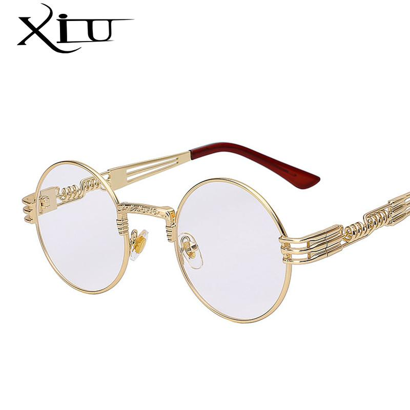 8895cd9b0 Gothic Steampunk Sunglasses Men Women Metal WrapEyeglasses Round Shades  Brand Designer Sun glasses Mirror High Quality UV400