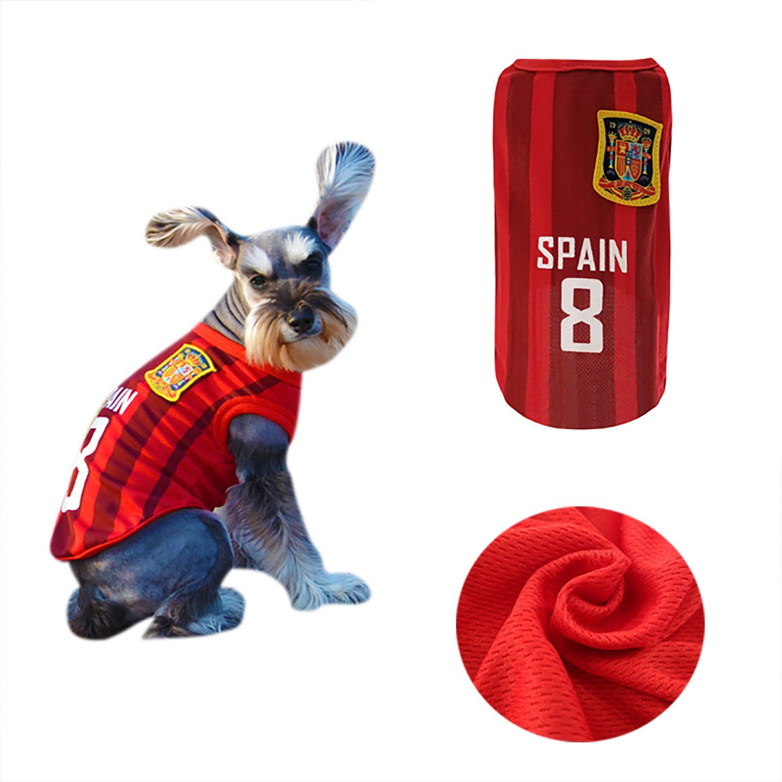 668bc79741d Yizhi Miaow Dog Soccer Jersey World Cup Pet TshirtDog Costume to Celebrate  The Russia 2018 FIFA