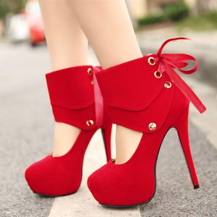 Zapatos rojos Tacón de aguja para mujer jpDLUhomU