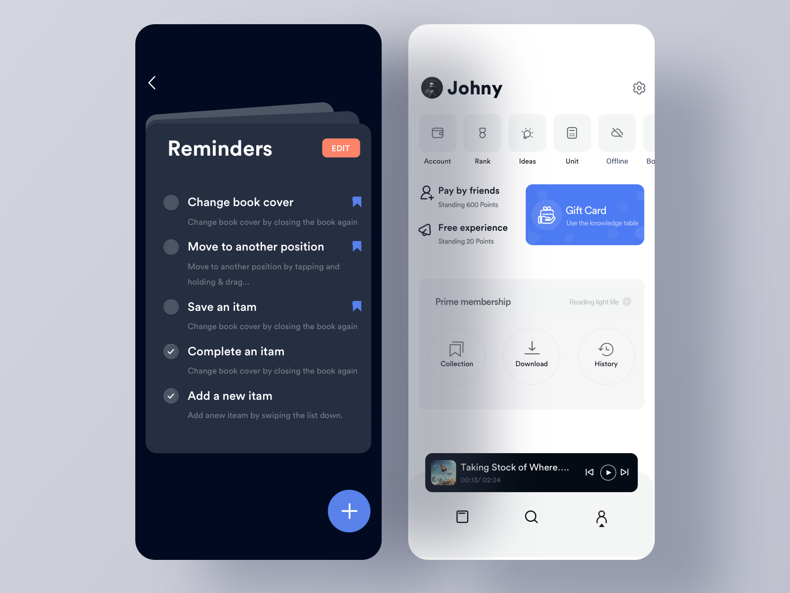 Reminder | ui | App ui design, Ui design inspiration, User