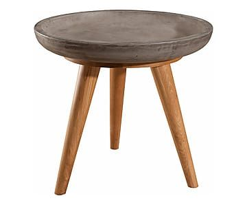 Table d'appoint NINO, marron et gris - Ø50