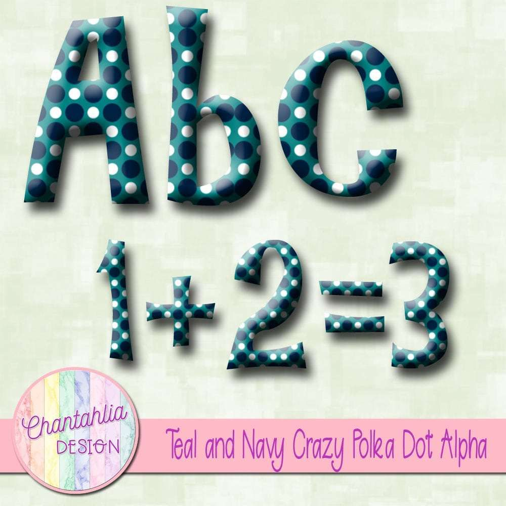 Free Crazy Polka Dot Alpha In Teal And Navy The Alpha Includes