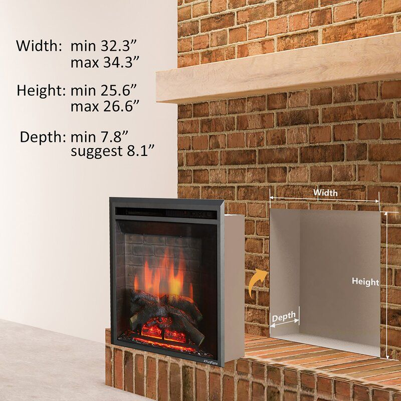 Armes Fireplace Insert In 2020 Electric Fireplace Insert Fireplace Inserts Best Electric Fireplace
