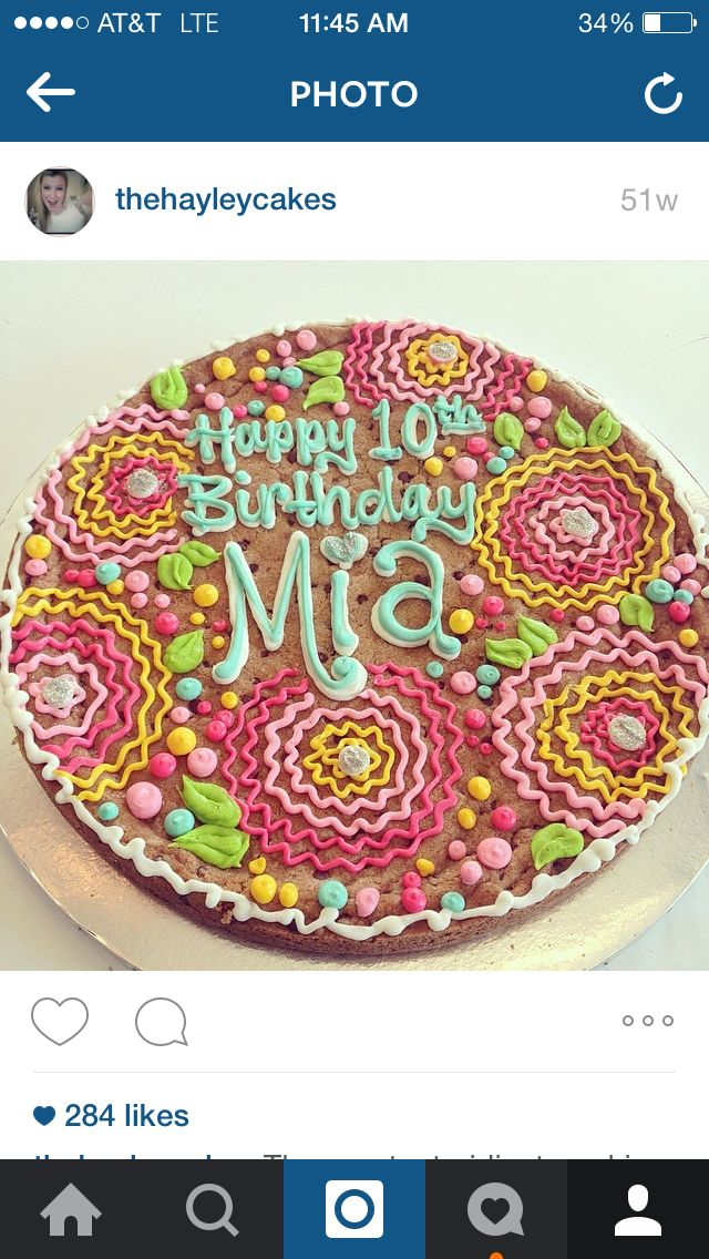 Beautiful Cookie Cake By Hayleycakes And Cookies