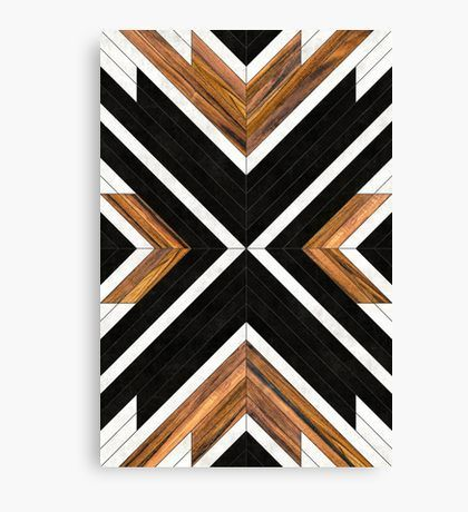 Photo of 'Urban Tribal Pattern 1 – Concrete and Wood' Canvas Print by Zoltan Ratko