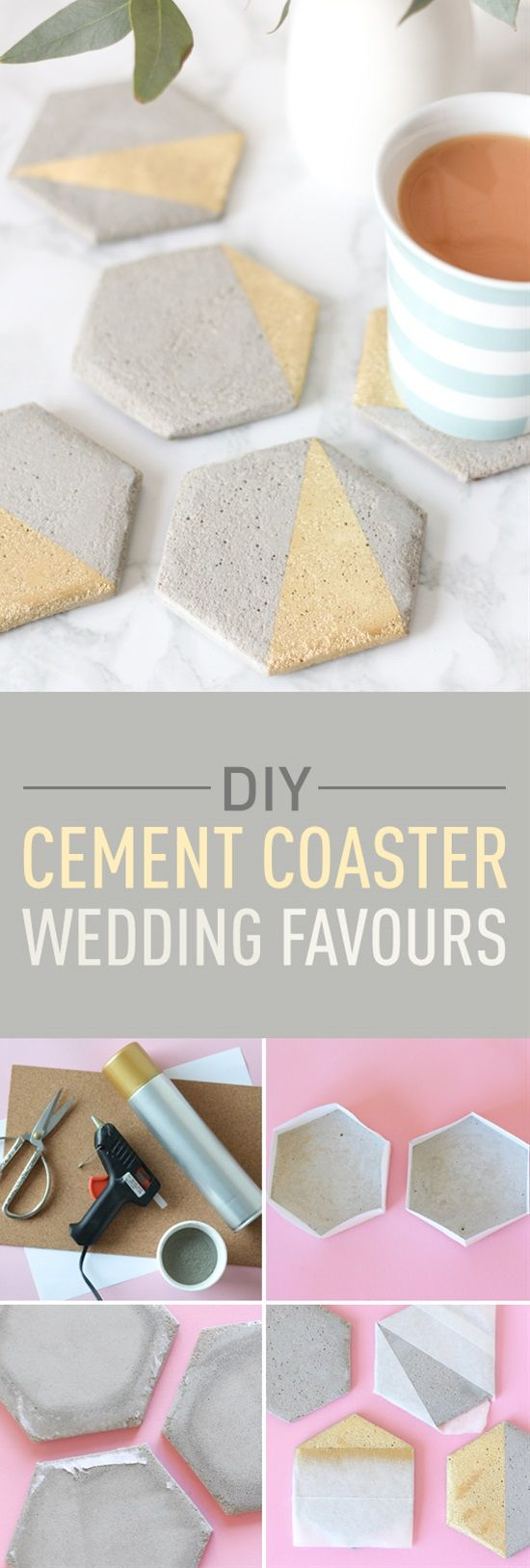 How to make your own cement coaster wedding favours plywood